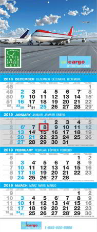 4 month in view custom promotional calendar for business