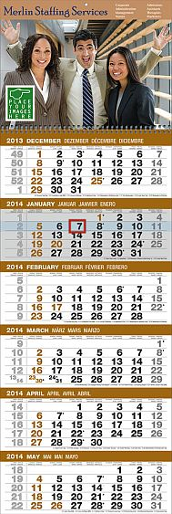 6 month in view custom promotional calendars for businesses