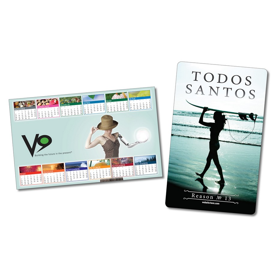Laminated Card Calendar - 5.25 x 8.5