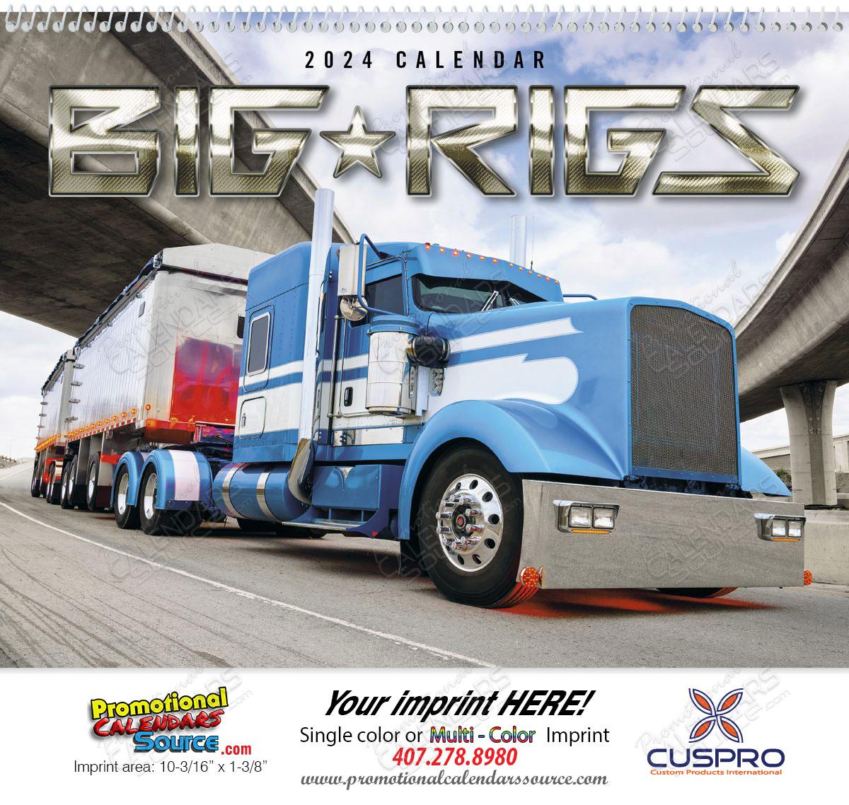 Big Rigs Promotional Calendar 2015 |Promotional Wall Calendar | Custom ...