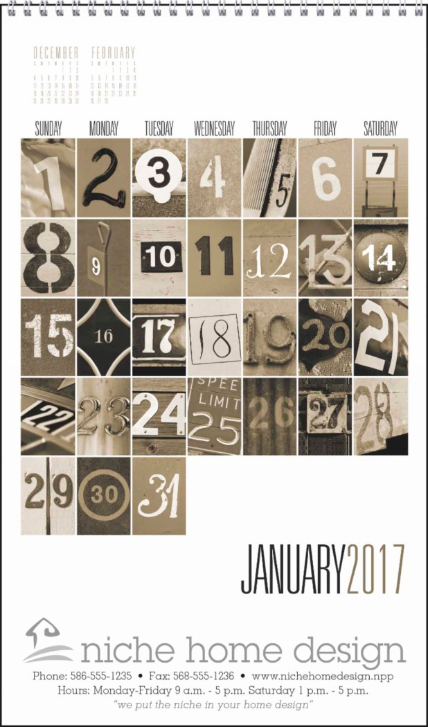 Numbers in Pictures Promotional Calendar 2018