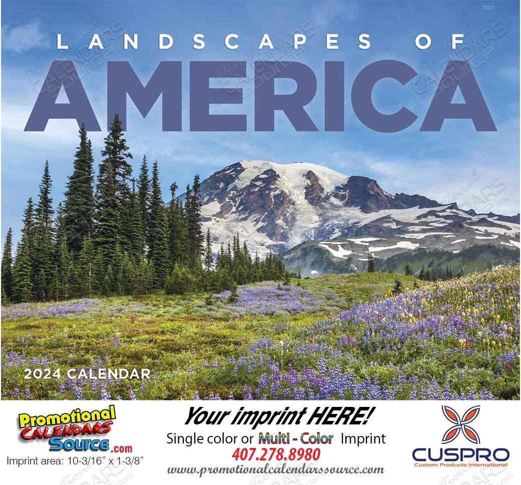 Landscapes of America Promotional Calendar, 2017 Stapled