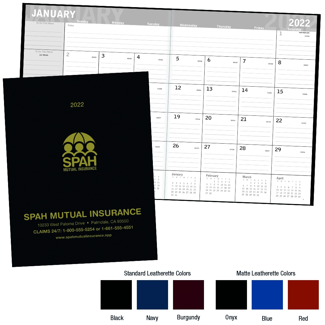 Promotional Classic Monthly Planner  2018