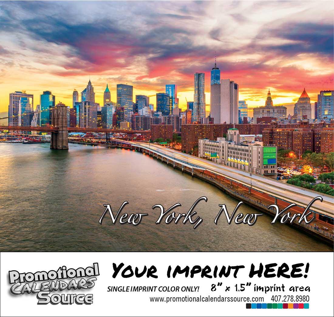 New York Bilingual Spanish/English Promotional Calendar of