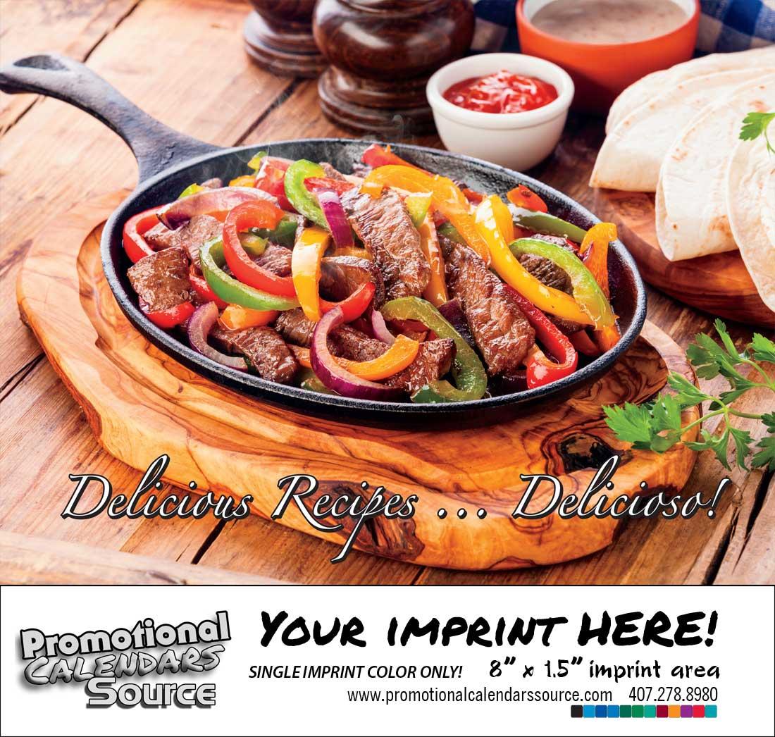 Delicious Culinary Recipes Bilingual  Calendar Spanish/English