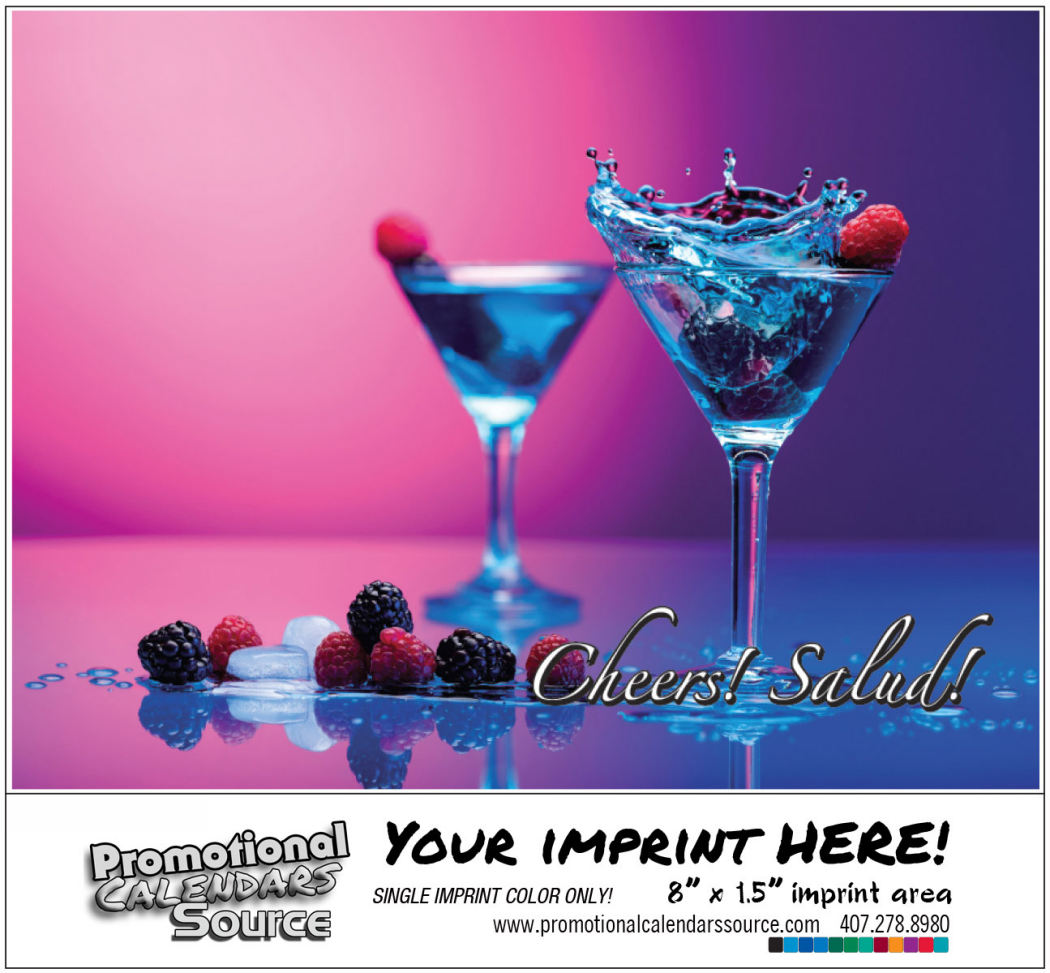 Cheers! Salud! Drinks & Cocktails Recipes Bilingual Calendar Spanish/English