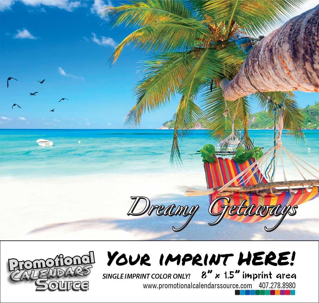 Dreamy Getaways Scenic Calendar Bilinglaul English/Spanish