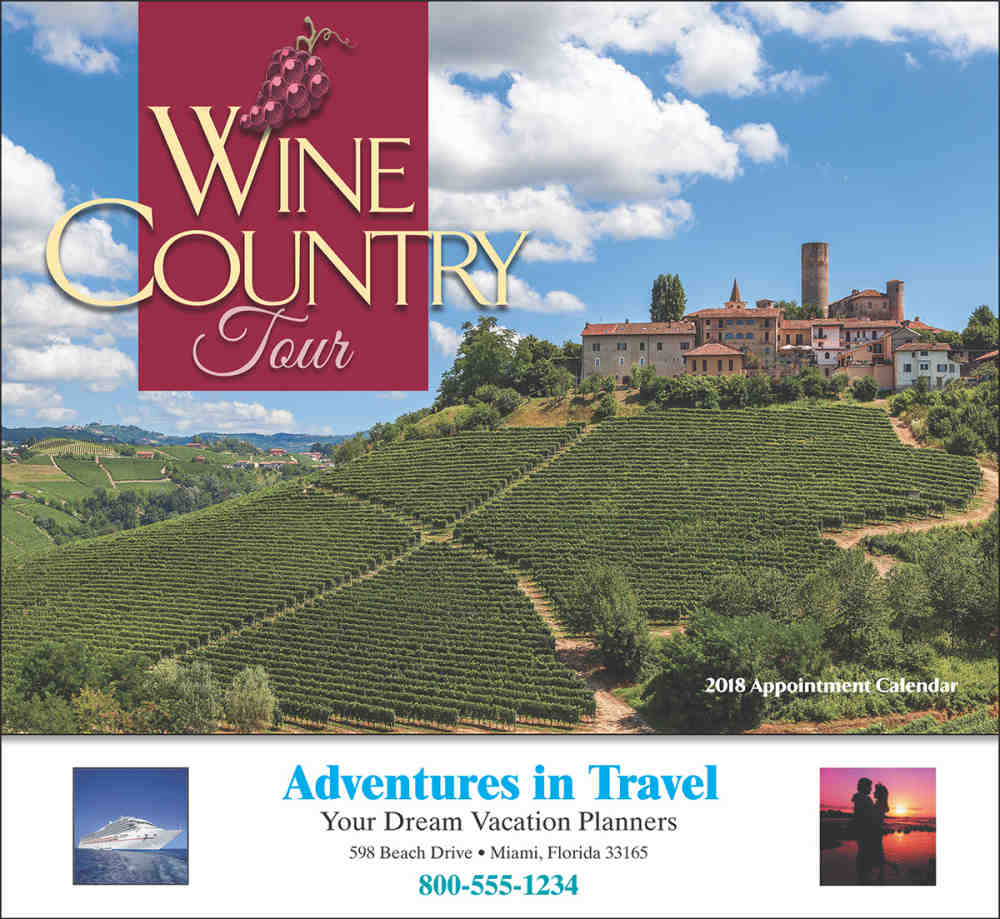 Wine Country Tour Promotional Calendar 2018 - Stapled