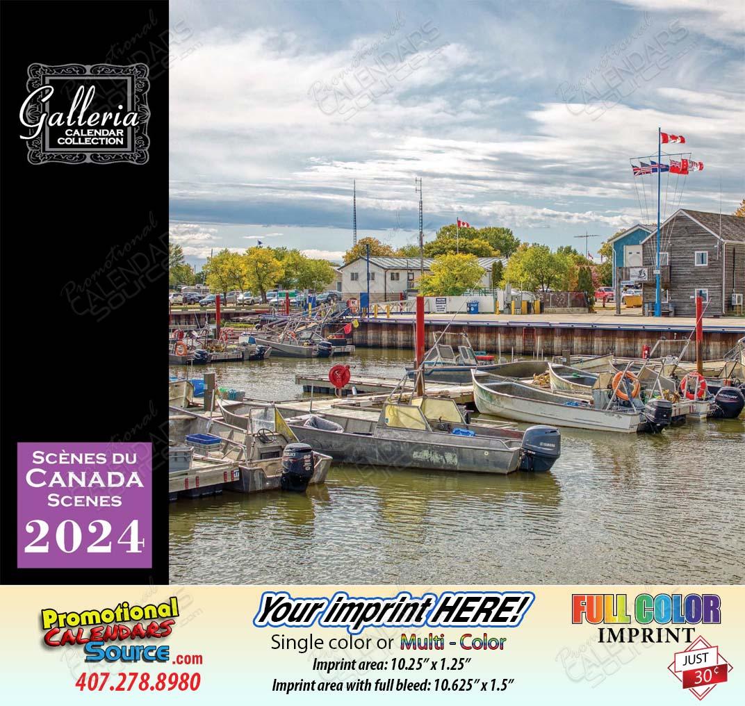 Scenes of Canada Bilingual(English/French) Value Calendar - 2018
