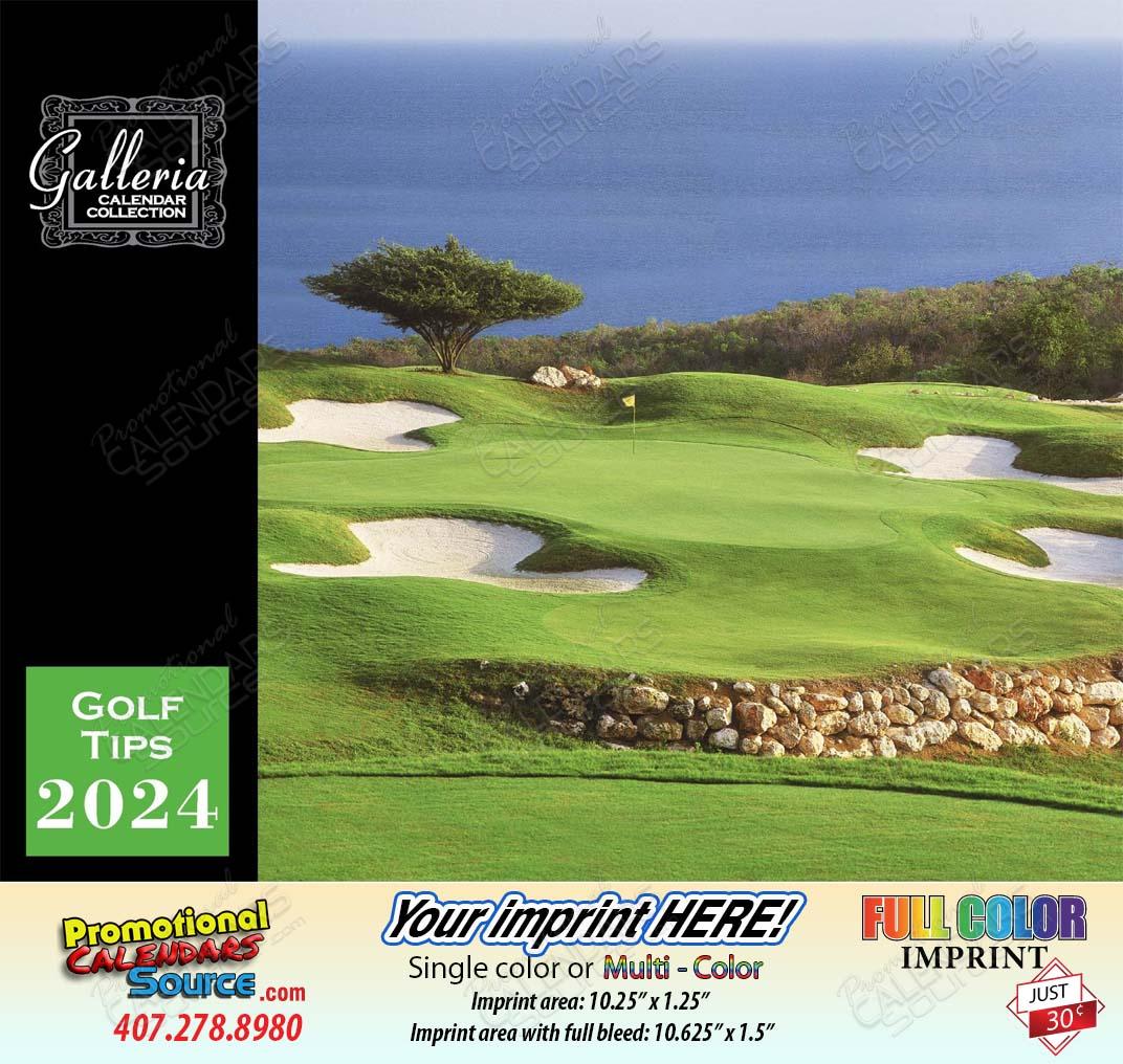 Golf Tips Wall Calendar 2018