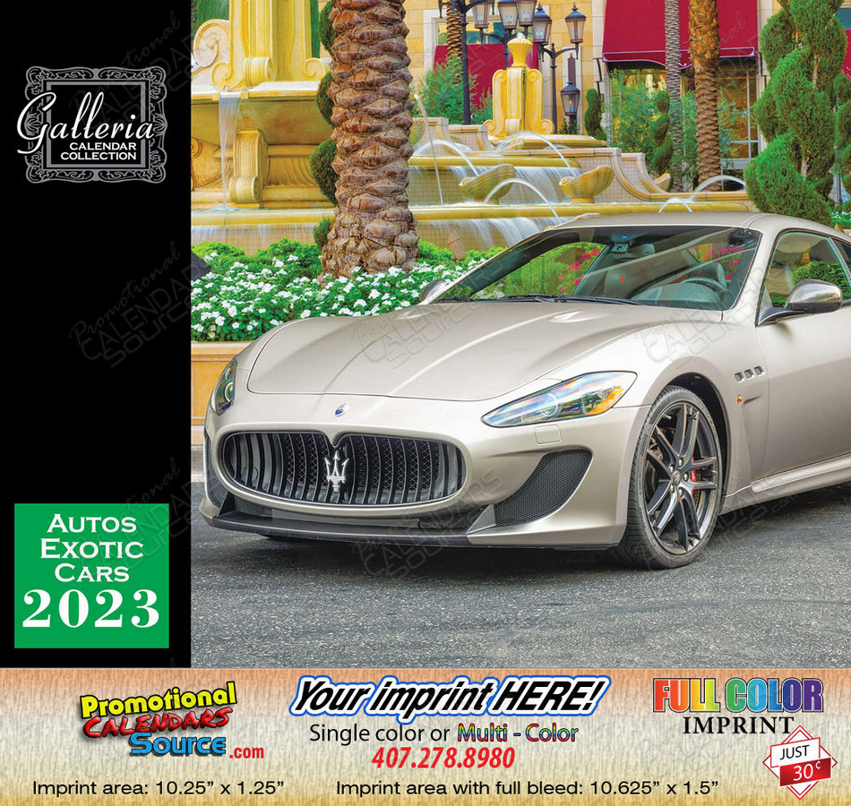 Exotic Cars Bilingual Calendar English/Spanish - 2018