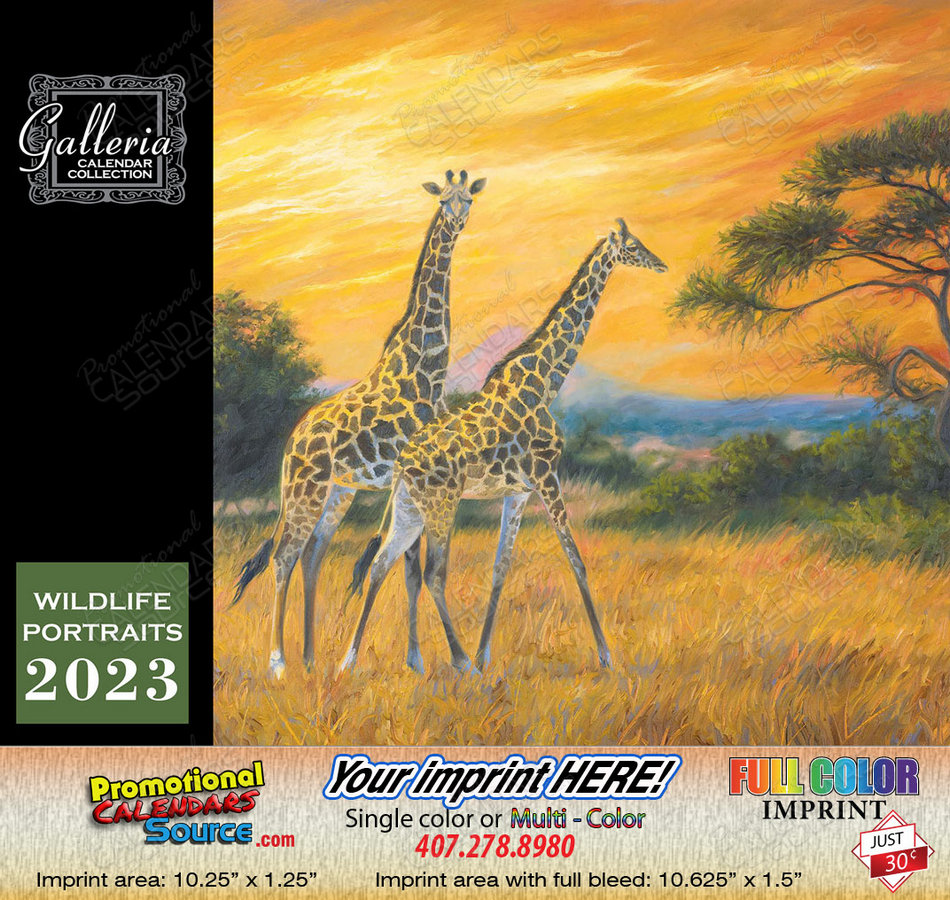 Wildlife Portraits Art Calendar 2018