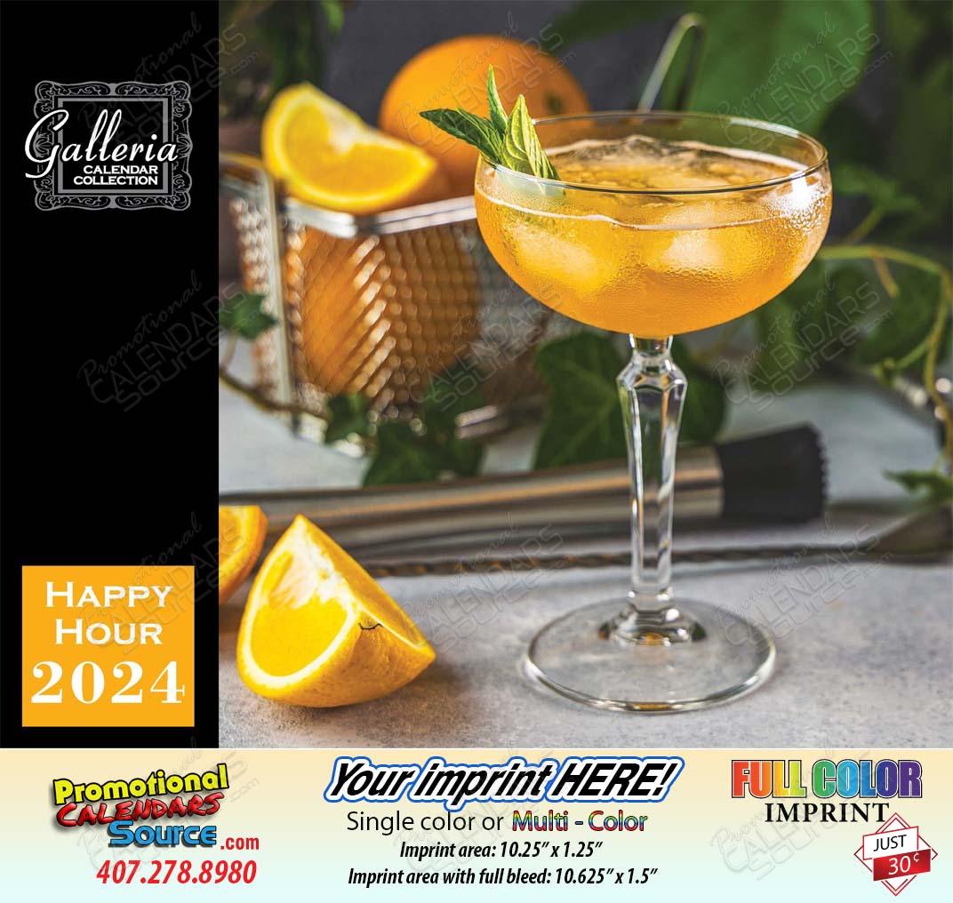 Happy Hour Cocktails Drinks Calendar 2018