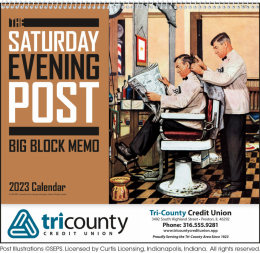 The Saturday Evening Post Big Block Memo Promotional Calendar 2018
