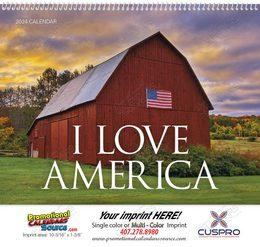 I Love America Promotional Calendar 2018