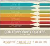 Contemporary Life Quotes Calendar Spiral 11x19 Drop-Ad