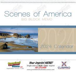 Scenes of America Big Block Memo Promotional Calendar 2018