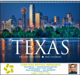 Texas State Promotional Calendar 2018