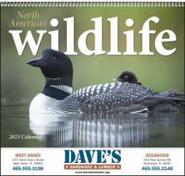 North American Wildlife Promotional Calendar 2018