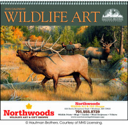 Wildlife Art by the Hautman Brothers Promotional Calendar 2018