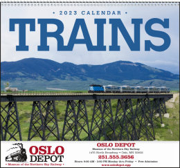 Trains Promotional Calendar 2018