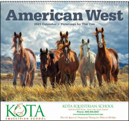 American West by Tim Cox Promotional Calendar 2018