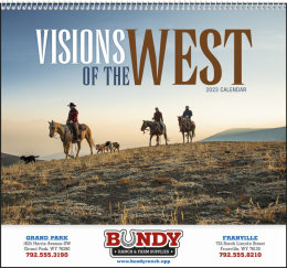 Visions of the West Promotional Calendar 2017