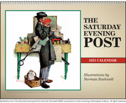 The Saturday Evening Post Illustrations Calendar 2018