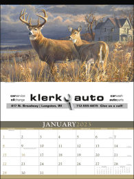 Wildlife Art by the Hautman Brothers Promotional Calendar 2017
