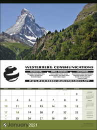 World Scenic large Promotional Calendar 2017