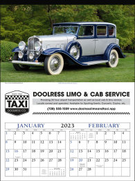 Antique Cars Promotional Calendar 2018