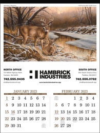 Wildlife Art Large Promotional Calendar 2018