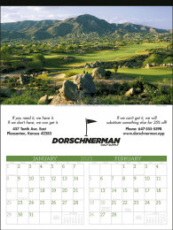Executive Golf Promotional Calendar 2018