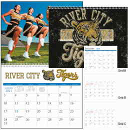 13 images Custom Promotional Calendar 11 x 17