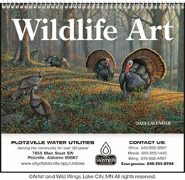 Wildlife Art Pocket Promotional Calendar 2018