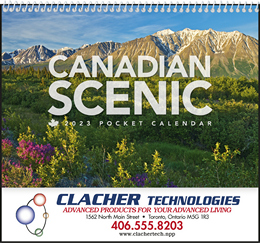 Canadian Scenic Pocket Promotional Calendar 2018