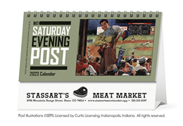 The Saturday Evening Post Promotional Desk Calendar 2018