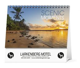 Scenic Moments Large Promotional Desk Calendar 2018