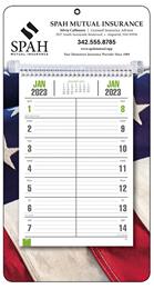 Promotional Bi-Weekly Memo Calendar 2018 - Patriotic