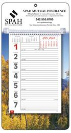 Big Numbers Promotional Weekly Memo Calendar 2018 - Autumn