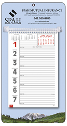 Big Numbers Promotional Weekly Memo Calendar 2018 - Mountains