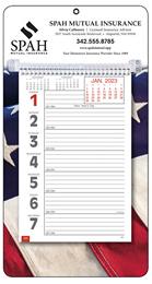 Big Numbers Promotional Weekly Memo Calendar 2018 - Patriotic
