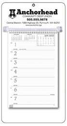 Promotional Weekly Memo Calendar 2018 - White