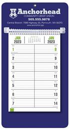 Bi-Weekly Promotional Memo Calendar - Blue