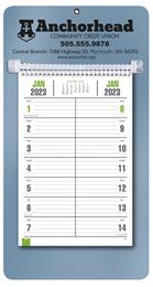 Bi-Weekly Promotional Memo Calendar - Metallic Blue