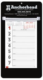Promotional Big Numbers Weekly Memo Calendar 2018 - Black