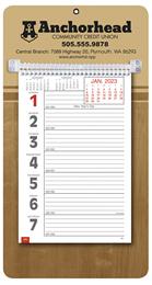 Promotional Big Numbers Weekly Memo Calendar 2018 - Butcher Block