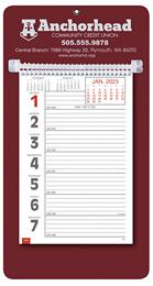 Promotional Big Numbers Weekly Memo Calendar 2018 - Maroon