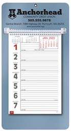 Promotional Big Numbers Weekly Memo Calendar 2018 - Metallic Blue