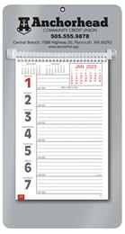 Promotional Big Numbers Weekly Memo Calendar 2018 - Silver